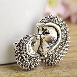 Jewelry - Vintage Silver Mother-child Brooch Hedgehog